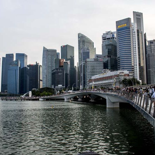 Singapore marine bay view